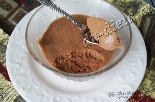 Суфле со вкусом молочного шоколада по Дюкану