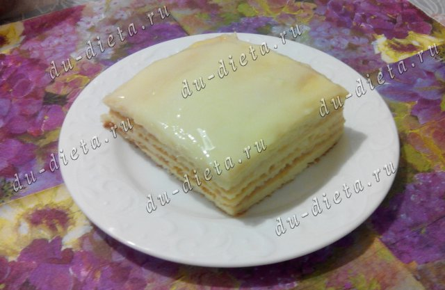 Торт Снеговик по Дюкану